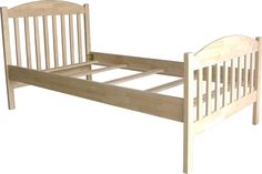 Amazon.com: International Concepts Unfinished Bed, Twin: Home & Kitchen