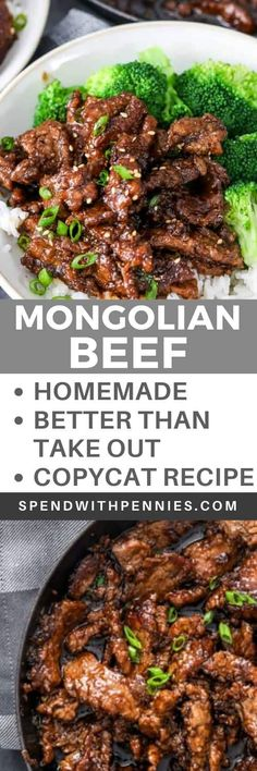 Easy Mongolian Beef recipe uses slices of tender beef coated in a sweet and salty sauce. - Spend With Pennies: Recipes -This Easy Mongolian Beef recipe uses slices of tender beef coated in a sweet and salty sauce. - Spend With Pennies: Recipes - Healthy Eating Tips, Clean Eating Recipes, Lunch Recipes, Dinner Recipes, Cooking Recipes, Healthy Recipes, Healthy Nutrition, Drink Recipes, Healthy Food