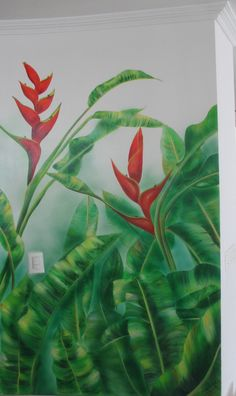 Mural Heliconias