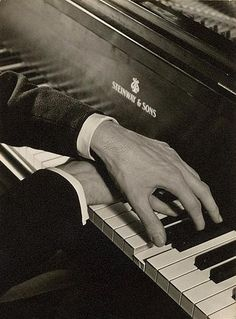 """George Gershwin's hands (looks like he's playing """"Rhapsody in Blue"""", even though the shot is probably posed)"""
