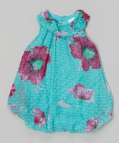 Love this Teal & Pink Floral Bubble Bodysuit on #zulily! #zulilyfinds
