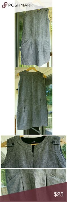"""""""FINAL PRICE"""" Dress in grey EUC No stain or rip  Like new  Rarely worn With lining Front zip opening Zara Kids Dresses Mini"""