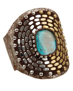 A showstopper!  Juno and Jove : Turquoise Cab Cuff by Calleen Cordero - CALLEEN-CORDERO-TURQUOISE-CAB-CUFF