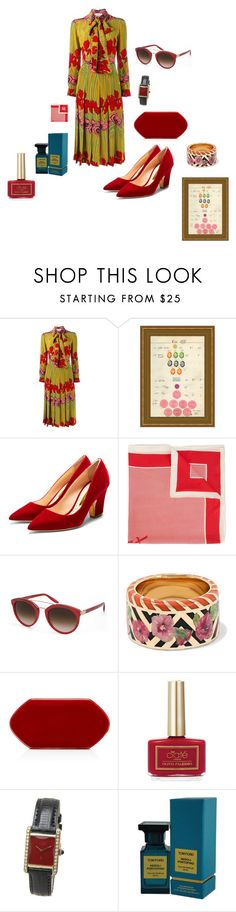 """""""Untitled #21"""" by amy-hille ❤ liked on Polyvore featuring Gucci, Soicher Marin, Rupert Sanderson, Yves Saint Laurent, Barton Perreira, Alice Cicolini, Ciaté, Cartier and Tom Ford"""