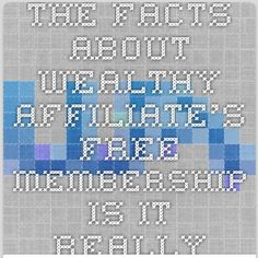 The Facts About Wealthy Affiliate's FREE Membership - Is it really Free?  What Do You REALLY with the Free Starter Membership?  True Facts Revealed!  See it here now... #FreeMemberships #WealthyAffiliate #GetTheFactsFirst brought to you by @JeremyDWilson http://firedordenied.com/get-started/
