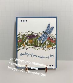 Quite Curvy Bundle—Thinking of You Makes My Day Card – cardsbycoco (Colleen Light)—Independent Stampin' Up! Demonstrator- DIY Crafts You Make Me, How To Find Out, How To Make, Handmade Stamps, Paper Crafts, Diy Crafts, Your Cards, Stampin Up, Card Stock