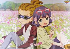 Kidou Yuuto and Otonashi Haruna from Inazuma Eleven Ares no Tenbin ❙ Magazine Animage Inazuma Eleven Axel, Jude Sharp, Cute Anime Couples, Best Series, Anime Chibi, Cute Love, Anime Characters, Childhood, Fan Art