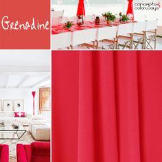 pantone grenadine, bright red interior design ideas, chili pepper red interior design inspiration, color for interiors, 2017 color trends, color trends