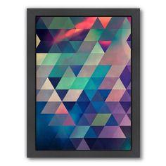 Americanflat Geometric Framed Wall Art, Multicolor
