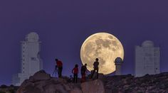 The supermoon as seen from the Canary Islands in Spain on Aug. 10, 2014. EPA/DANIEL LOPEZ/IAC