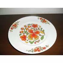 Prato Antigo De Porcelana Florido  (Schimidt)