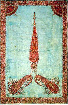 Antique Qajar Embroidery  Kerman Embroidery Panel Qajar Dynasty 1795 - 1925 A.D Circa 1800