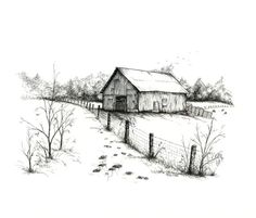 """Single Note Card - """"Jack's Old Barn"""" - 5"""" x 8 1/2"""""""