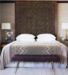 Indian ceiling panel as headboard