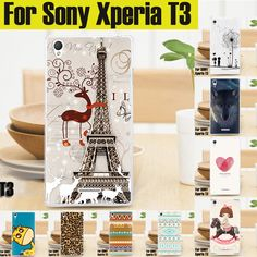 Case For Sony Xperia T3 Case Cute Lovely Cartoon Hard Cover Case For Sony Xperia T3 M50w D5102 D5103 D5106 Case in stock #clothing,#shoes,#jewelry,#women,#men,#hats,#watches,#belts,#fashion,#style