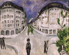 "Ernst Ludwig Kirchner ""Street at Schöneberg City Park"" 1912-13 (Milwaukee Art Museum, Wisconsin)"