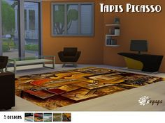 Sims 4 CC's - The Best: Rugs by Sims Artist