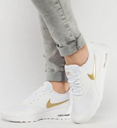 0b443948ae04c Nike Sportswear AIR MAX THEA J Baskets basses white metallic gold