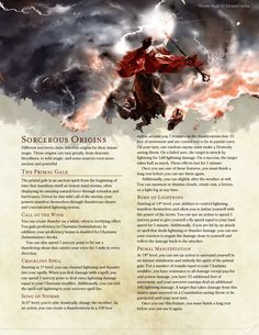 Elemental Sorceries by BoltNine Homebrew - thunder thanes