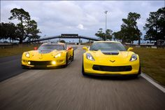 Corvette Racing C7.R and 2017 Corvette Z06