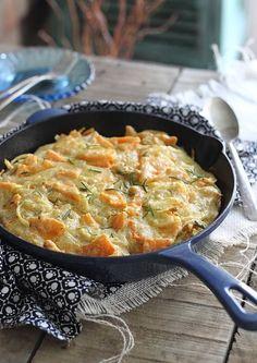 Rosemary butternut squash skillet pie from runningtothekitchen.com