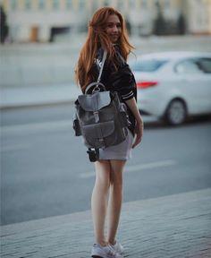 GRAFEA Grey Leather, Leather Backpack, Backpacks, Bags, Fashion, Handbags, Moda, Leather Backpacks, Fashion Styles