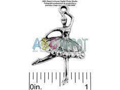 #Charm #Pendant #Bailarina #Ballerina en #Metal color #Plata de 37x23mm. Bolsita con 5, Código: BAS3723