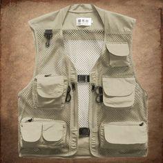 Men's Multi-Pocket tactical vest Military Quick-Dry Fly Hunting Jacket Fishing Outdoor black Waterproof taktikleri vest