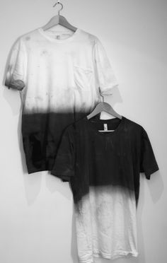 DIY black and white dip dyed t-shirt inspiration... Want to make this for this outdoor marching band season :)