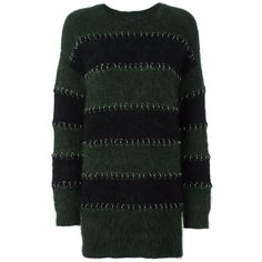 Alexander Wang ring pierced rugby sweater dress ($1,295) ❤ liked on Polyvore featuring dresses, black, round neck dress, alexander wang dress, alexander wang, round neck long sleeve dress and ribbed dress
