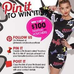WIN 1 of 10 $100 boohoo.com vouchers! Sliders, Boohoo, The 100, At Least, Fashion Inspiration, Clothes, Outfits, Outfit Posts, Kleding