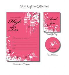 high tea invitation - Google Search