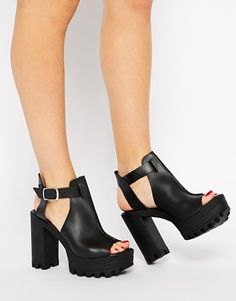 ASOS HEAR SAY Leather Heeled Sandals $59.62