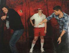 Jensen and Jared playing dogeball. NJCon