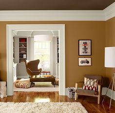 renkli tavanlar modern gorunumlu odalar karamel duvar haki tavan boyasi – Dekorasyon Cini