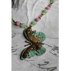 Candy Flutter - Steampunk Butterfly Necklace