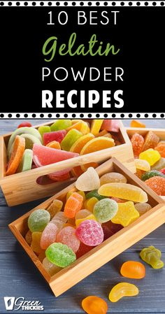 If you haven't discovered the benefits of gelatin powder you are going to love this! Gelatin powder contains collagen wh Saltine Toffee, Toffee Candy, Lemon Recipes, Real Food Recipes, Summer Recipes, Cookie Recipes, Dessert Recipes, Benefits Of Gelatin, Passion Fruit Tea