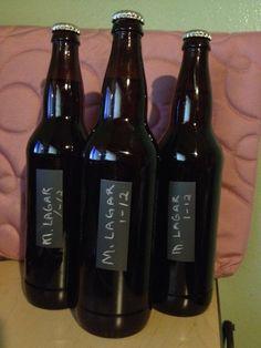 Chalkboard Homebrew Beer Labels   Single Chopstick