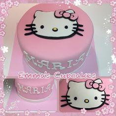 Emma's Cupcakes: hello kitty cake / pastel hello kitty