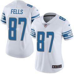 Women's Nike Detroit Lions #87 Darren Fells Limited White NFL Jersey