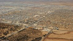 refugeecamp Zaatari in Jordan gives home to more than 100.000 syrian refugees