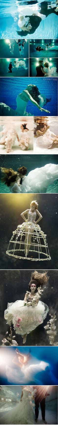 Underwater Wedding pictures! I want this!!