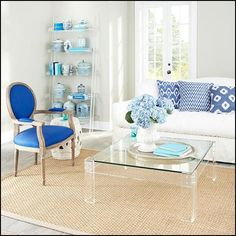 My original plan of adding turquoise in the form of pillows to my family room for a summer look was not working as I thought it would.