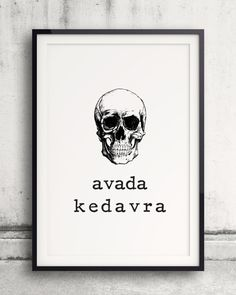 """Avada Kedavra Poster, Harry Potter Poster, Killing Curse, Unforgivable Curse, Harry Potter Spell, 2 for 5 SALE! Use Coupon Code """"FREEBIE"""""""