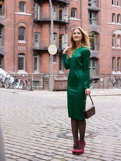 Schnittmuster: Kleid - tailliert, langarm - Kleider - Damen - burda style