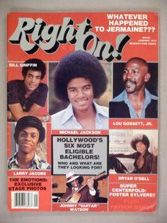 Right on Magazine January 1978 Michael Jackson Cover