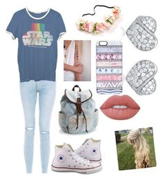 """The Acessories That Come with One Outfit <3"" by jade-rosette on Polyvore featuring Junk Food Clothing, Converse, Aéropostale, Casetify and Lime Crime"