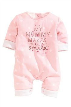 Buy Pink Wadded Spot Romper (0-18mths) from the Next UK online shop