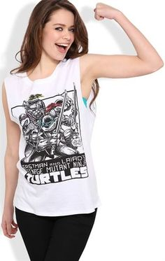 Deb Shops Sleeveless Tank Top with #NinjaTurtles Screen $9.00