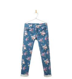 Image 1 of FLORAL PRINT TROUSERS from Zara